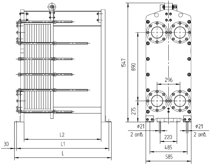 Теплообменник пластин не менее 150 шт толщина пластин 0 5мм мощность не менее 1075мкал ч что да т теплообменник в жилом доме